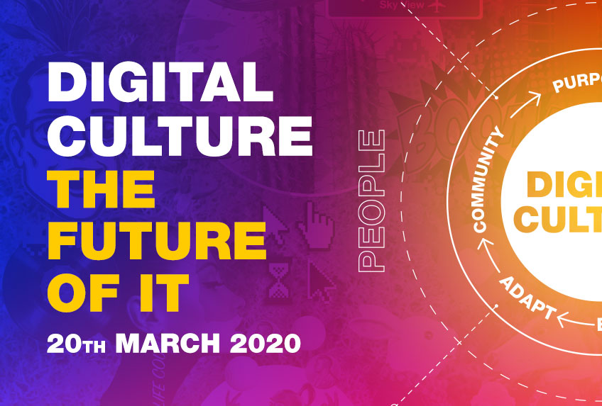 Come along to our free Digital Culture event on the 20th March at Cooper Parry IT in Castle Donington.