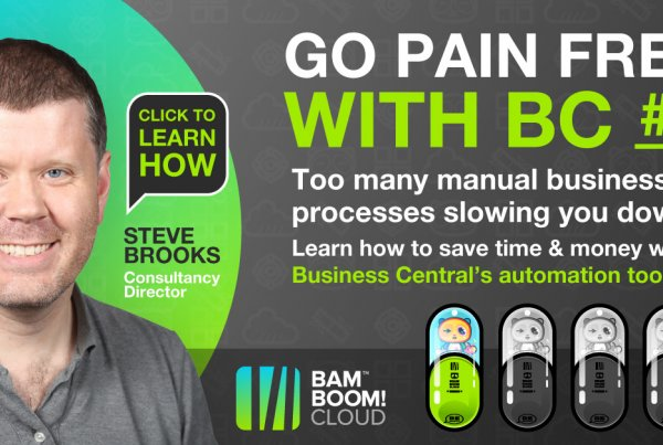 Save time and money bu automating your manual business processes with Business Central