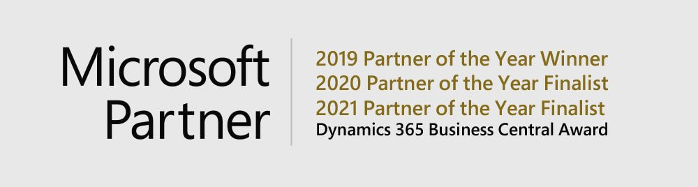 2021 Global Microsoft Partner of the Year for Dynamics 365 Business Central Finalist