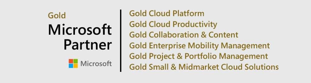 6x Microsoft Gold Partner
