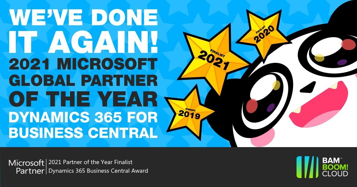 Microsoft Partner of the Year - what it means to us. Bam Boom Cloud