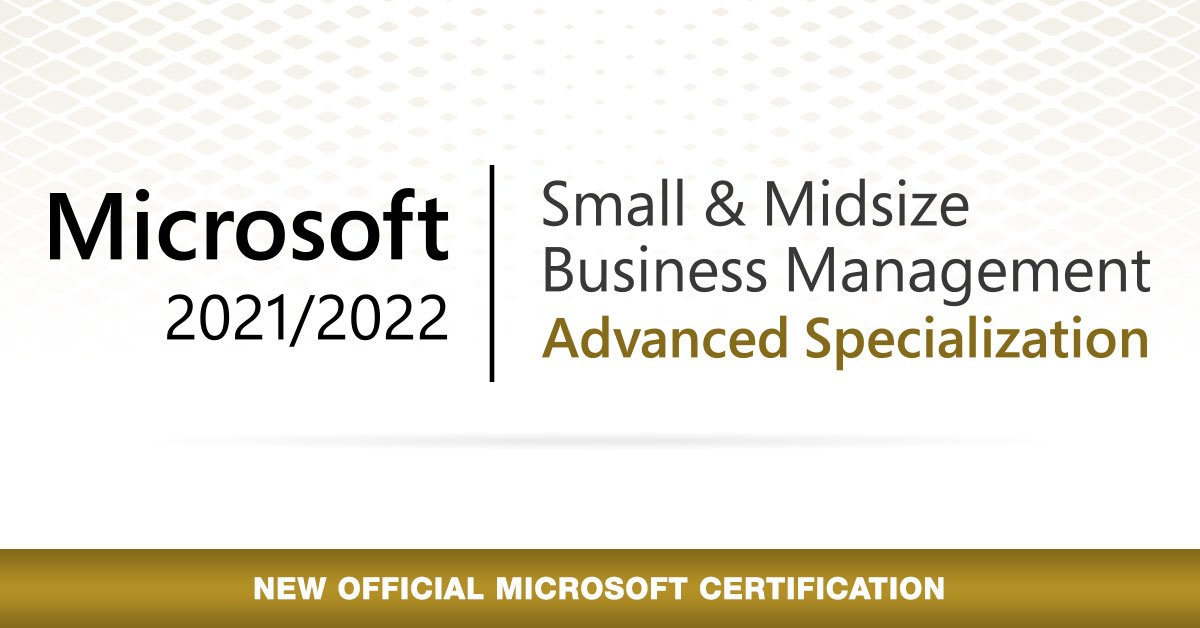 Bam Boom Cloud achieve the Microsoft Small and midsize business management advanced specialization